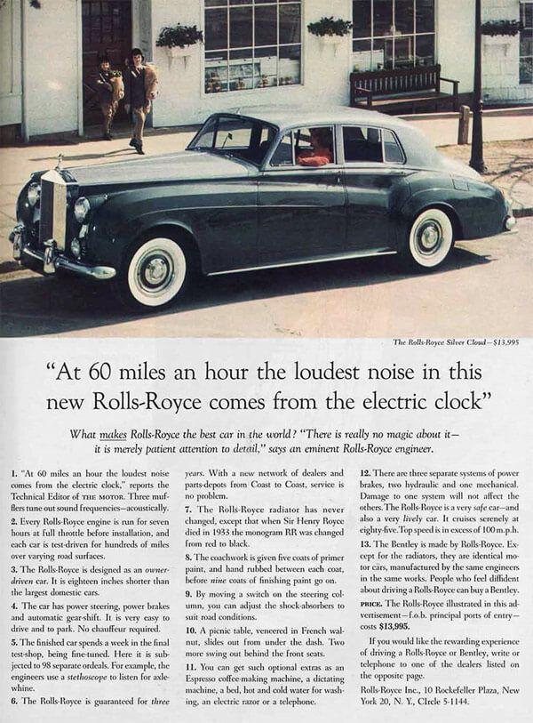 Rolls-Royce Ogilvy Ad