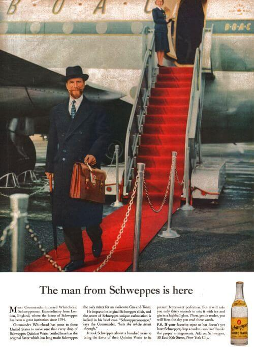 The Man From Schweppes is Here by Ogilvy
