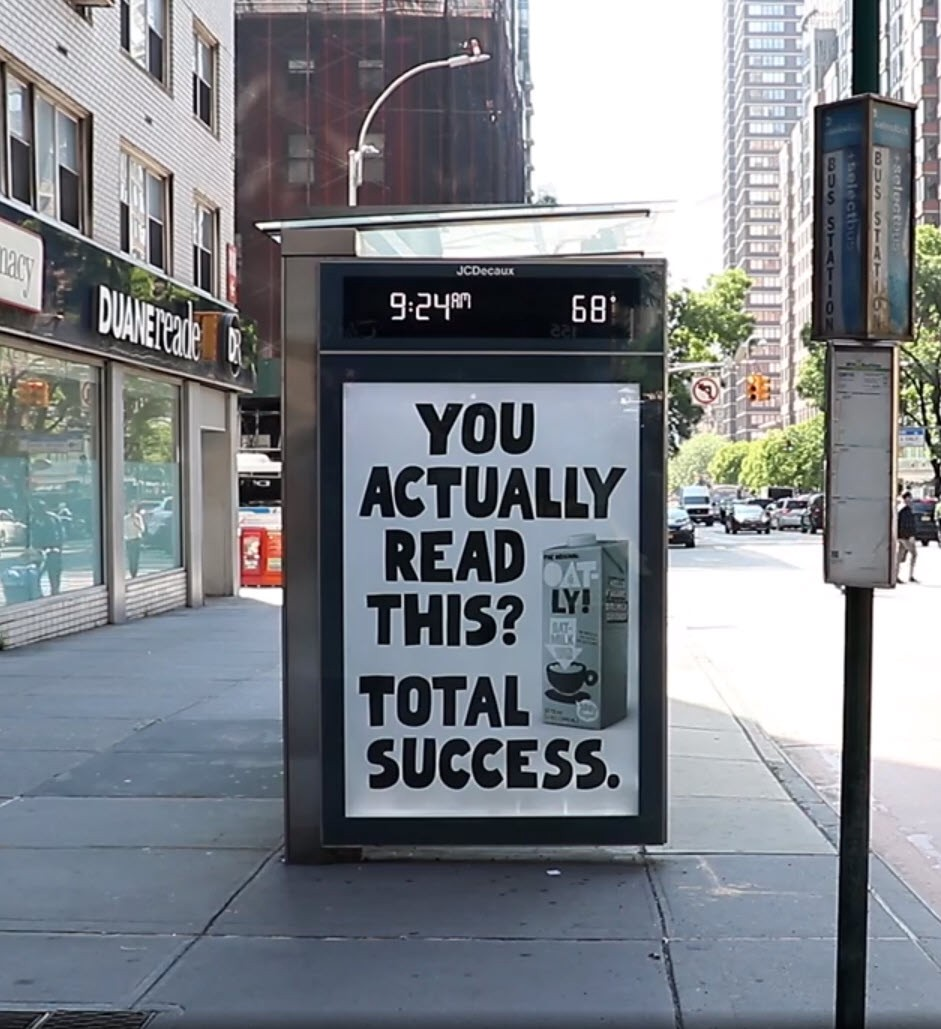 Oatly's Outdoor Display Campaign