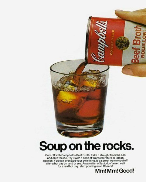 Campbell's Soup On the Rocks Ad