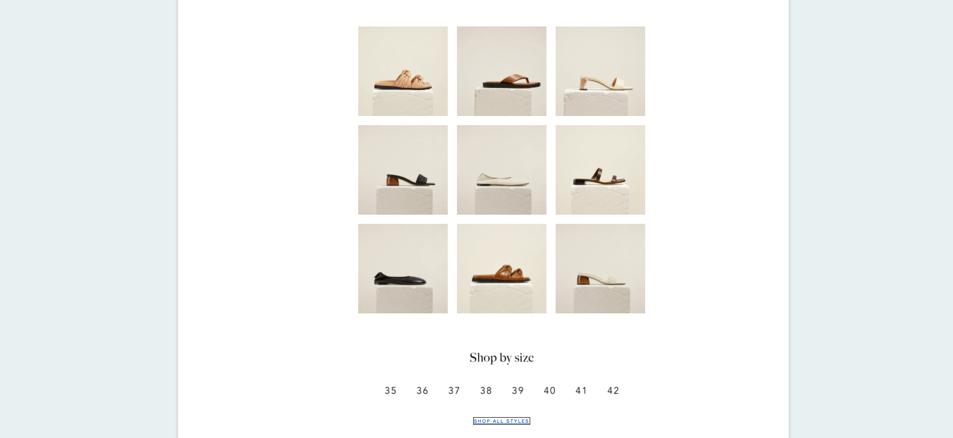 Dear Frances - Shop by size email